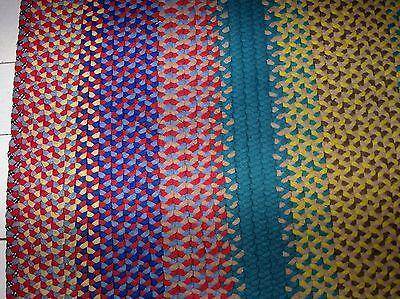 "Vintage Antique Hand Handmade Rectangle Wool Braided Rug 56"" X 52"""