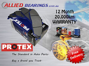 FRONT BRAKE PADS FORD LASER KJ KN KQ PROTEX ONE SET DB13
