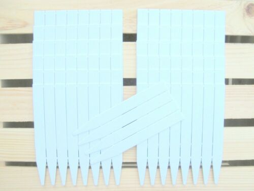 """6"""" Plastic Plant Stakes, Plant Labels, Plant Markers, Nursery Tags, Thick White"""