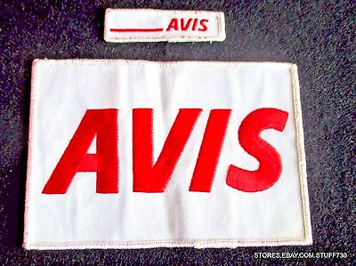 Avis Car Rental Embroidered Sew On Patch Budget Large Small Lot 2