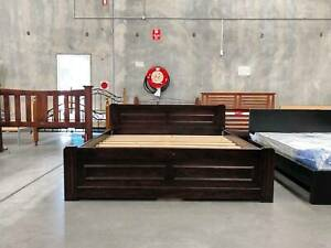 TODAY DELIVERY BROWN wooden king bed frame with DRAWERS