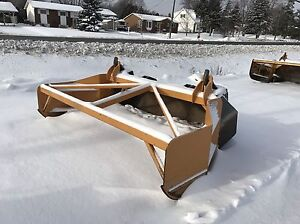 Case 580 & 590 Backhoe Bucket & Aubichon Snow Pusher