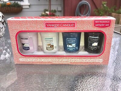 ☆☆SET OF 4 VOTIVE CANDLES SET☆☆YANKEE CANDLE☆☆FREE SHIPPING☆☆ ALL NEW SCENTS