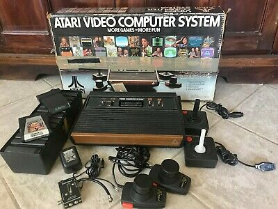 ATARI Video Computer System 2600 1980 Box Games Controllers 4 Switch Console