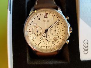 Audi Armbanduhr Chronograph Luminous, Lederarmband,Datum Abzeige Uhr Geschenkbox