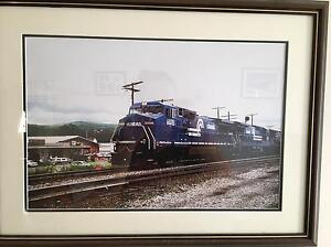 Framed American Train photos Morwell Latrobe Valley Preview