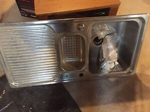 Stainless steel sink.