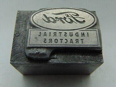 Vintage Printing Letterpress Printers Block Ford Industrial Tractor All Metal