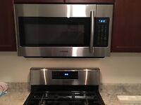 Overrange microwave dishwasher gas stove installation $80