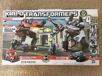 Kre O Transformers Battle For Energon Set  98812  Optimus Prime   Megatron