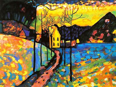 Wassily Kandinsky Winter Landscape Old Master Art Painting Canvas Art Print, used for sale  Shipping to Canada