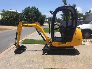 JCB mini excavator  ready for work Trinity Park Cairns Area Preview