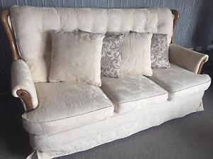 Cream craftsman built sofa Kingston Kingborough Area Preview