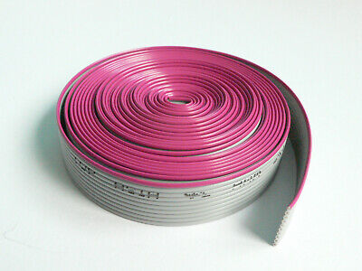 10 Conductor Flat Ribbon Cable 0.05 Pitch 5 Feet Length