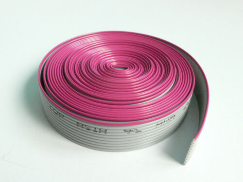 """10 Conductor Flat Ribbon Cable, 0.05"""""""" pitch, 5 feet length"""