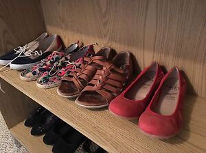 Assorted women's shoes and boots. Size 8.5-9