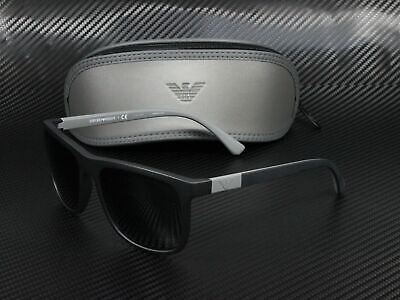 Emporio Armani EA4079 504287 MATTE BLACK GREY 57 mm Men's (Armani Sunglasses For Men)