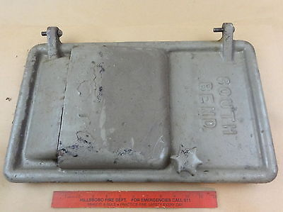 Nice Original South Bend 13 Lathe Metal Bench Base Motor Door Cover Hinge Pins
