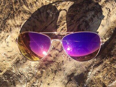 BLUE Mirrored Aviator Sunglasses J Lo GOLD Frame Hot Famous