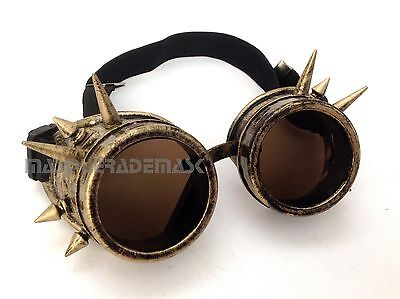 Victorian Spikes Steampunk goggles aviator Cosplay Cyber Halloween Party Fun](Fun Halloween Party)
