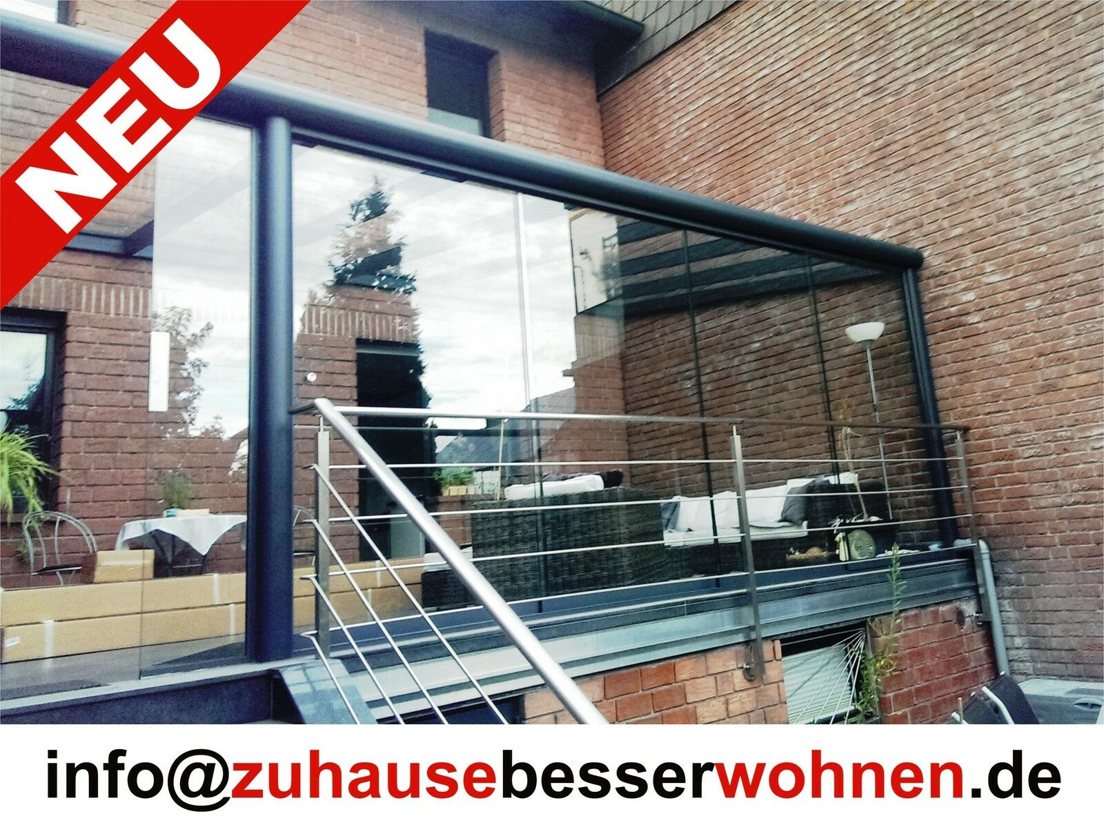 terrassen berdachung carport berdachung aluminium terrassendach vsg glas 6x2 5 eur. Black Bedroom Furniture Sets. Home Design Ideas