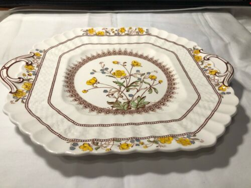 Vintage Copeland Spode China Teapot Serving Tray Buttercup Hard to Find