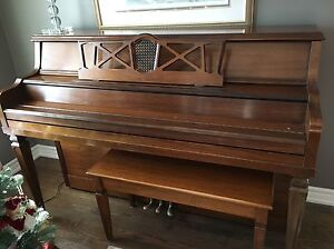 Upright Piano with bench by Heritage