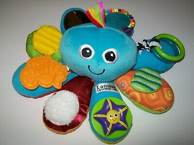 Used Baby/Infant Blue Lamaze Plush Octopus Activity Toy for Boys or Girls