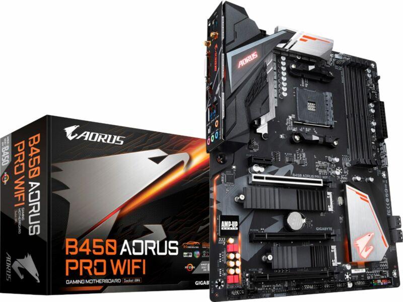 GIGABYTE - B450 AORUS PRO WIFI (Socket AM4) USB 3.1 Gen 1 AMD Motherboard wit...