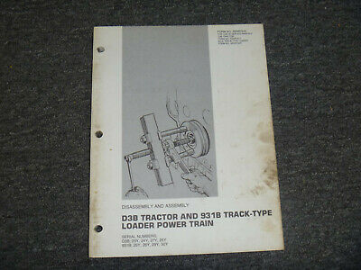 Cat Caterpillar 931b Track Loader Power Train Assembly Service Repair Manual 25y