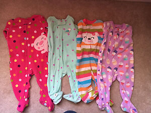 8 Pairs of Carters Fleece Sleepers - Size 6 Months