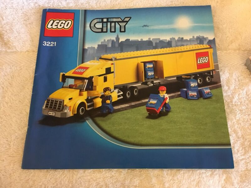 Lego City 3221 Semi Trailer Truck Complete With Manual Toys