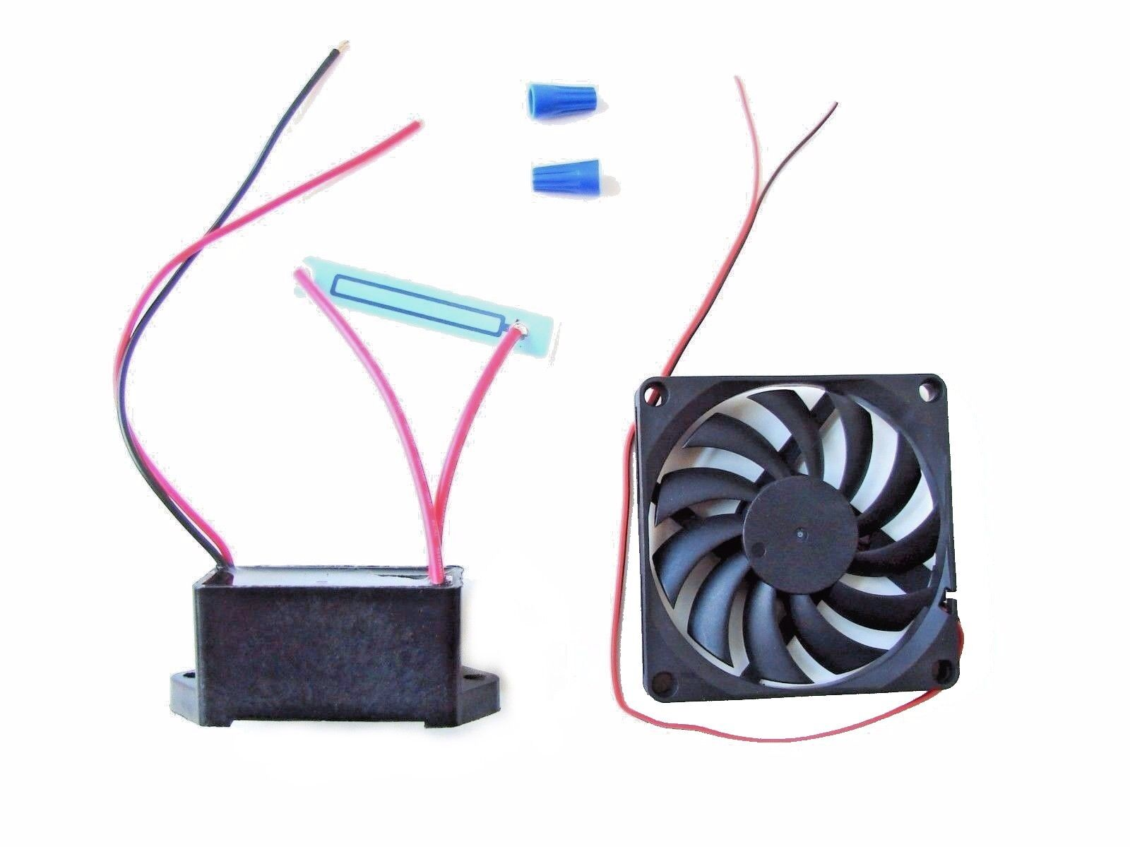 10 lot -12 Volt DC - 500 mg/hr Moisture Proof Ozone Generator Kit with a 12v Fan