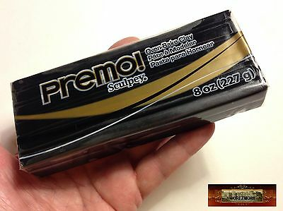 M00524 MOREZMORE Premo Sculpey BLACK 8oz Sculpting Modeling Polymer Clay A60