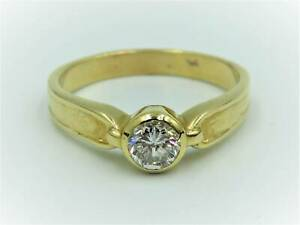 18ct Yellow Gold Ladies Diamond Ring R½ 015000138606 Rockingham Rockingham Area Preview