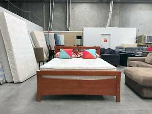 TODAY DELIVERY SQUARE WOODEN Queen bed frame (mattress avail)