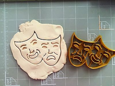 Comedy/Tragedy Masks Cookie Cutter - Comedy Tragedy Masks