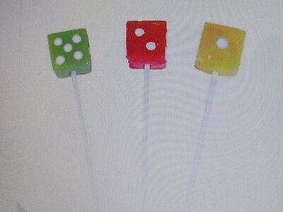 12 DICE SUCKERS candy lollipops CASINO GAME NIGHT party favors CUTE