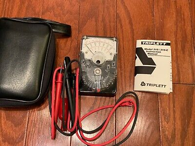 Triplett 310310-c Analog Multimeter W Case Manual Hand-seized Vom Type 7