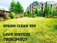 Spring clean ups Lawn Care Book your spot now 7806194907