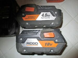 Rigid drill set 18 V -3 Drill + 2 charger + 4 Battery Gatineau Ottawa / Gatineau Area image 2
