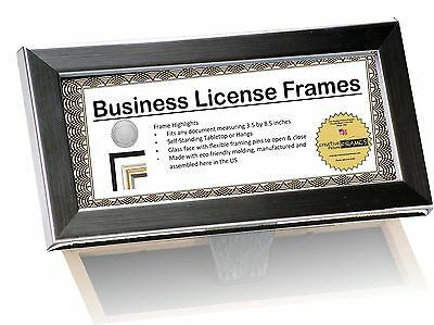 CreativePF [3.5x8.5ss] Stainless Steel Business License Frames for Professionals