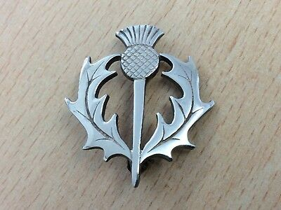 VINTAGE ORTAK STERLING SILVER THISTLE BROOCH PIN BY MALCOLM GRAY 1990