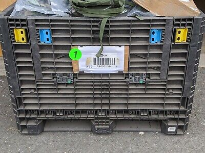 Stackable Plastic Collapsible Hd Bulk Storage Shipping Container 48 X 45 X 34