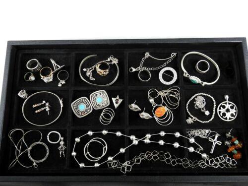 Vintage Sterling Silver Jewelry Lot Solid 925 Huge Estate Bracelets Rings #2