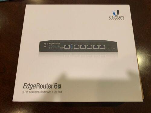 NEW Ubiquiti EdgeRouter 6P 6-Port Gigabit Router with 1 SFP Port ER-6P-US NEW