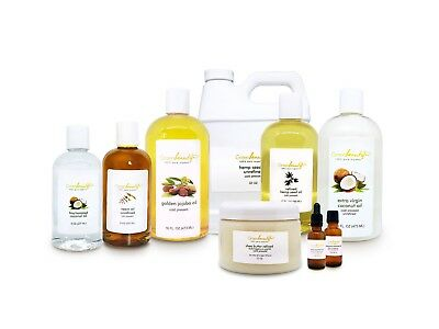 100% PURE NATURAL ORGANIC CARRIER OILS COLD PRESSED REFINED UNREFINED 4-64 OZ