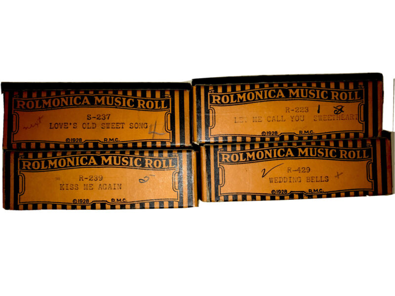 Rolmonica Music Rolls (machine not included), free ship in continental USA