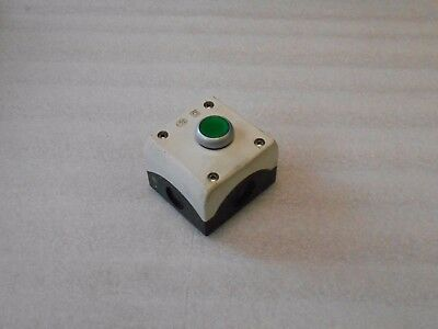 Klockner Moeller  Plastic 1 Green Push Button Enclosure, Used, Warranty