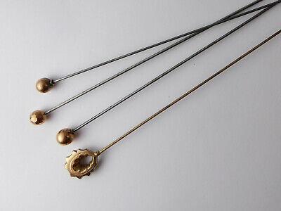 Job Lot Antique Art Deco 9ct Rose Gold Hat Pins